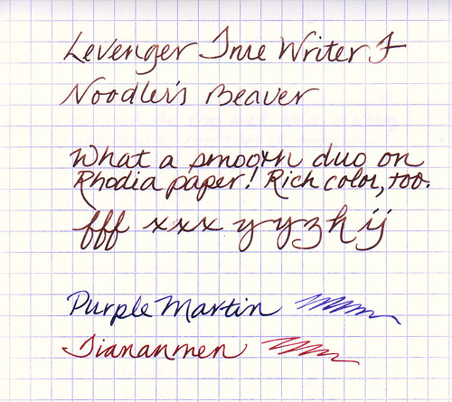 Noodler's Ink Test On Rhodia Paper