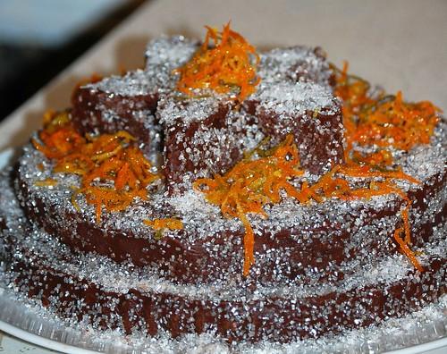 Zero Dark Chocolate Cake with a Silver Lining