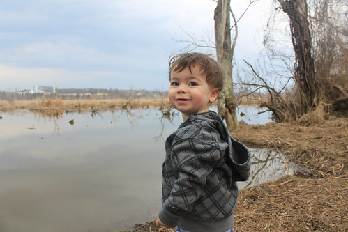 Julie J Metz Wetlands Hike - Smiling Sagan with Water