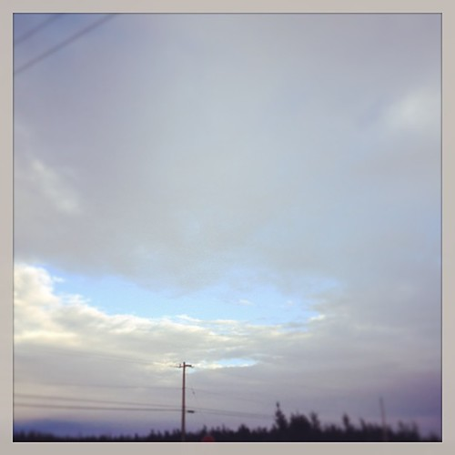 Feb 22 - makes me smile {the only spot of blue sky on a gray & cloudy day} #fmsphotoaday #sky
