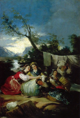 Francisco Jose de Goya y Lucientes - The Washerwomen at Oskar Reinhart Collection Winterthur Switzerland by mbell1975