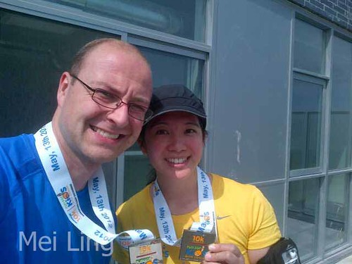 Dan and I with our medals