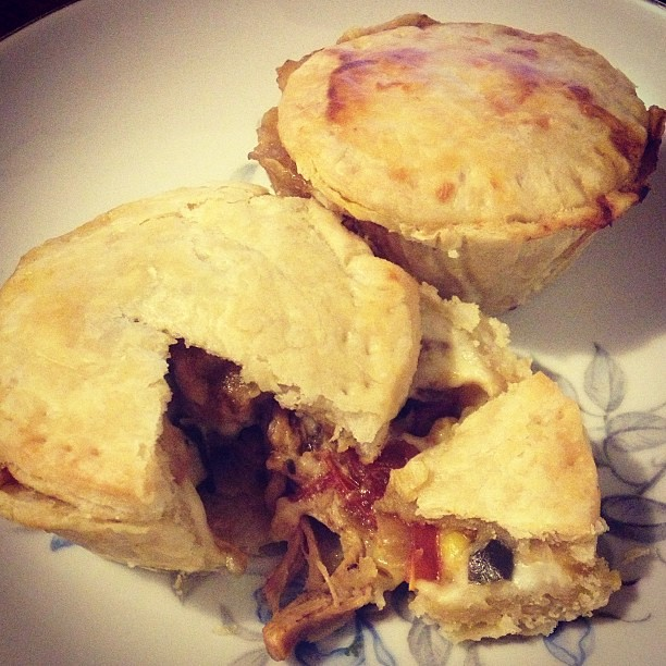 Yesterday's dinner of mini chicken pot pies = today's lunch #recipecomingsoon
