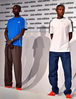 Wilson Kipsang y Geoffrey Mutai adidas Media Day