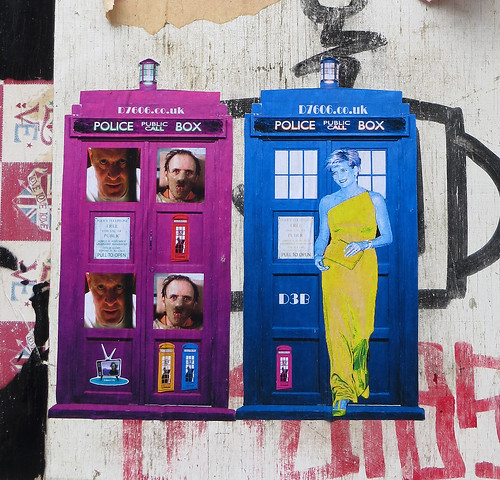 Paste ups by D7606 and D3B, Brick Lane, Shoreditch - February 2013