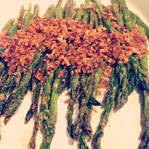 First asparagus of the season. Oven roasted with garlic brown butter. I love #spring!