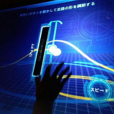 ライドデザイン中。ライド内のスクリーンが小さくて没入感が少ないのが残念。これはハリポタライドに乗る前に体験すべきだった。