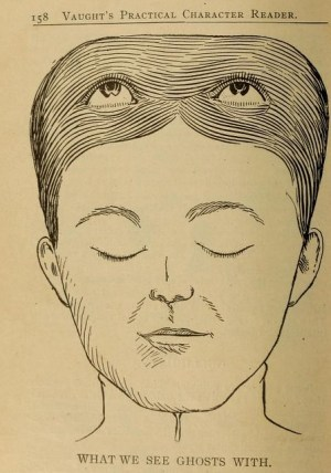 Phrenology Diagrams from Vaught's Practical Character