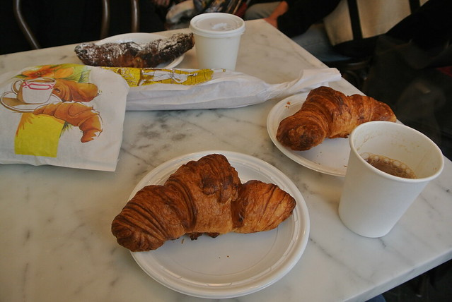 Croissants (and an almond one too)
