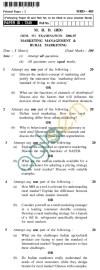 UPTU  MRD (RD) Question Papers - MRD-403-Marketing Management & Rural Marketing