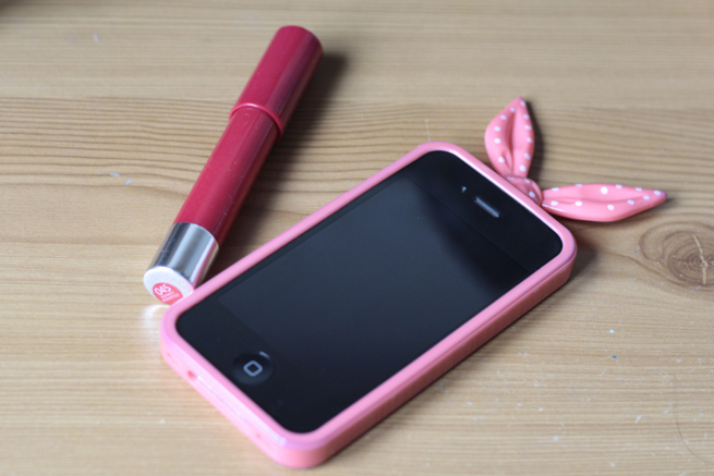 Phone case and Revlon