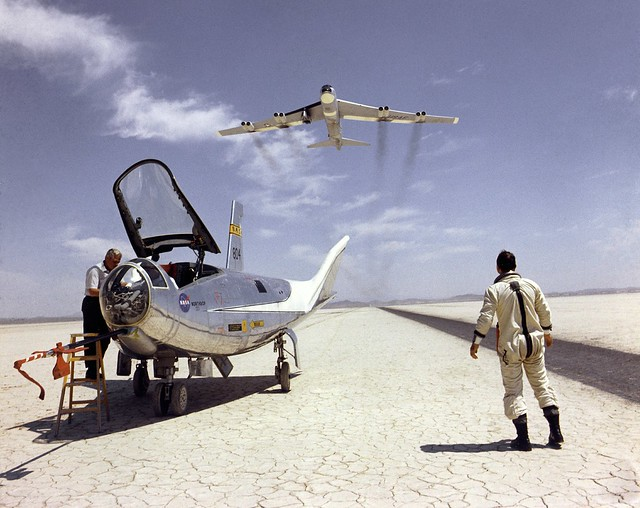 HL-10 Lifting Body and B-52 Flyover (Public Domain)