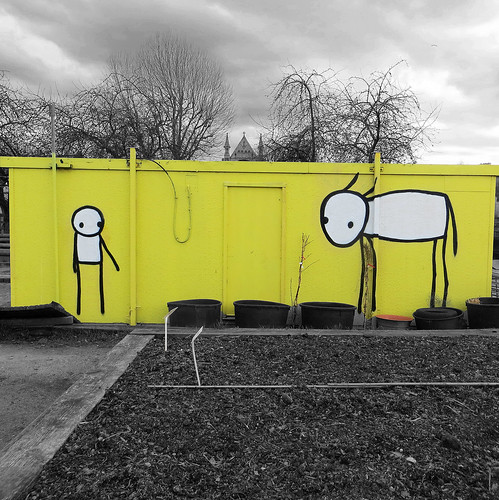 Stik Spitalfields City Farm, London - April 2013