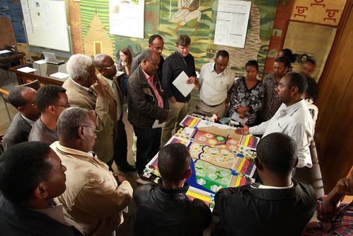 Mulugeta Lemenih facilitates the WAT-A-GAME learning event (Photo credit: ILRI / Apollo Habtamu)