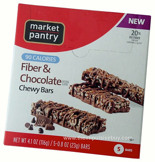 Market Pantry 90 Calories Fiber & Chocolate Chewy Bars