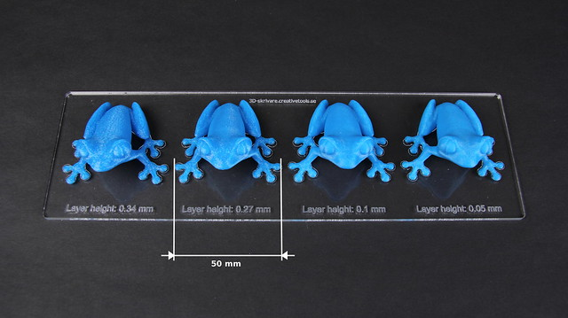 Makerbot Replicator 2 Pla Blue Frogs Layer Thickness