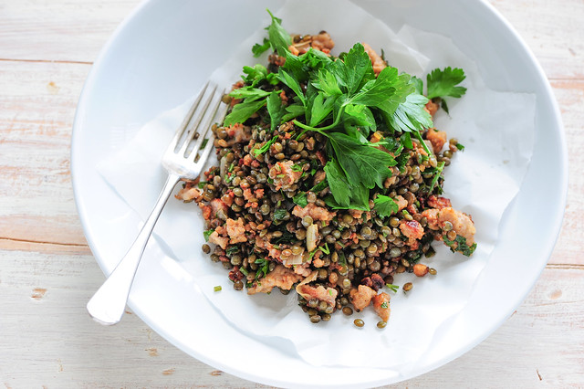 sausages with lentils-2