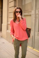 Image result for coral sweater