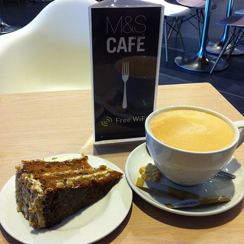 Organic carrot cake from M&S Cafe