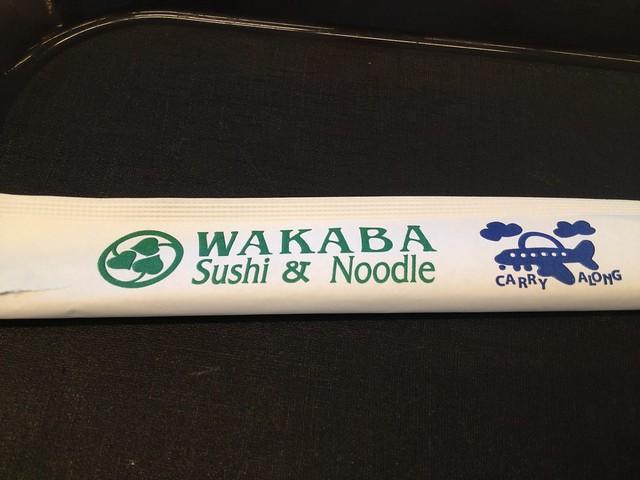Chopsticks cover - Wakaba Sushi & Noodle