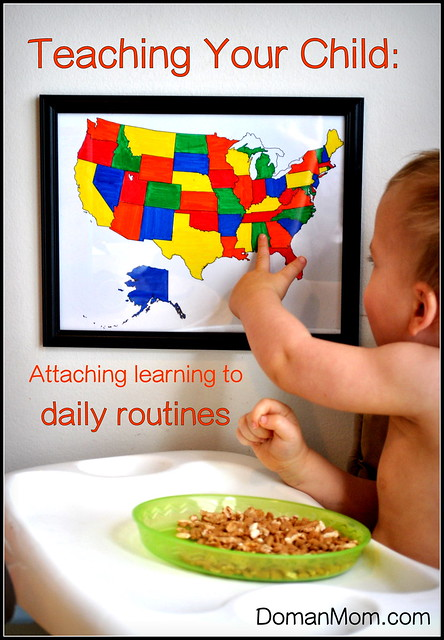 Attaching learning to daily routines
