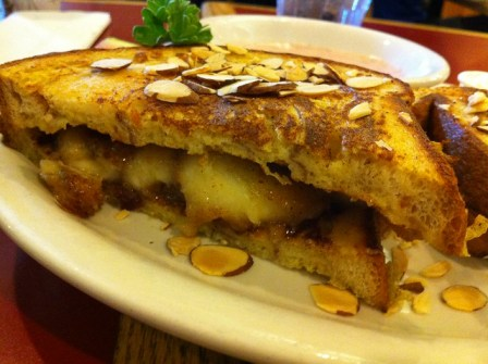 French Toast Sandwich with Banana Streusel from Hobee's