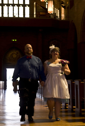 Here comes the bride…and groom