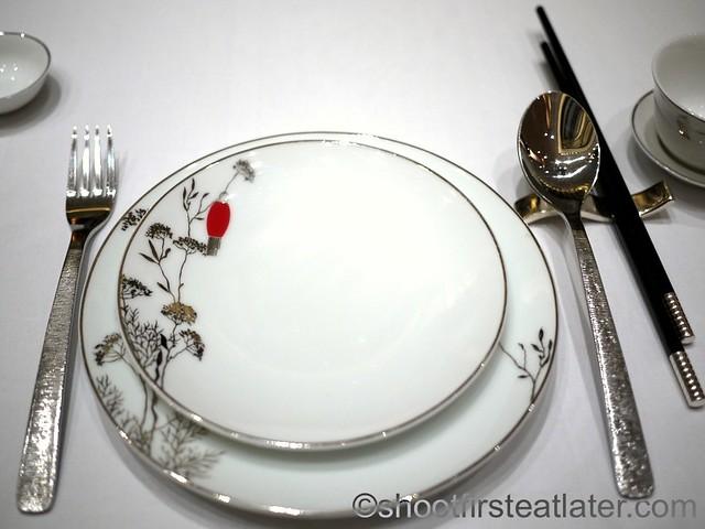 Red Lantern @ Solaire- Bernardaud dinnerware