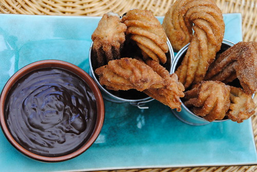 churros chocolate donuts