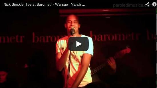 Nick Sinckler live at Barometr