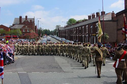 The Mercian Regiment's homecoming, Dukinfield.