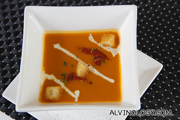 Trio of Capsicum Soup