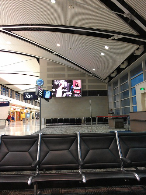 watching the playoffs at a very empty DTW.
