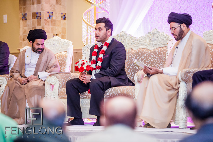 Groom and Imam at Indian wedding