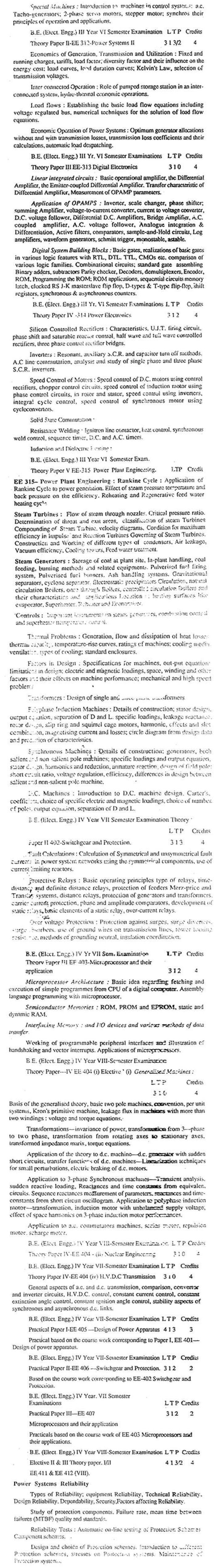 DTU Syllabus -  Electrical Engineering