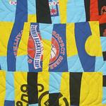 Modern Memory Lane T-shirt Quilt - improvisational patchwork