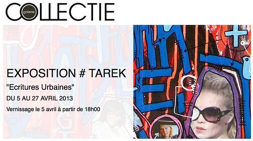 Ecritures urbaines :: exposition de Tarek à la galerie Collectie by Pegasus & Co