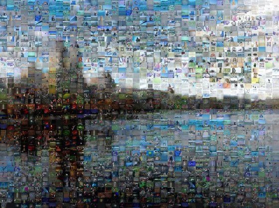 Mobile learning mosaic of Central Park, New York