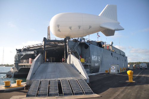 Swift tests a IF-25K aerostat. by Official U.S. Navy Imagery