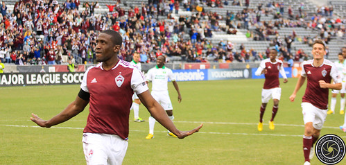 Hendry Thomas (Rapids), Colorado Rapids Host Portland Timbers at Dick's Sporting Goods Park Colorado by Corbin Elliott Photography
