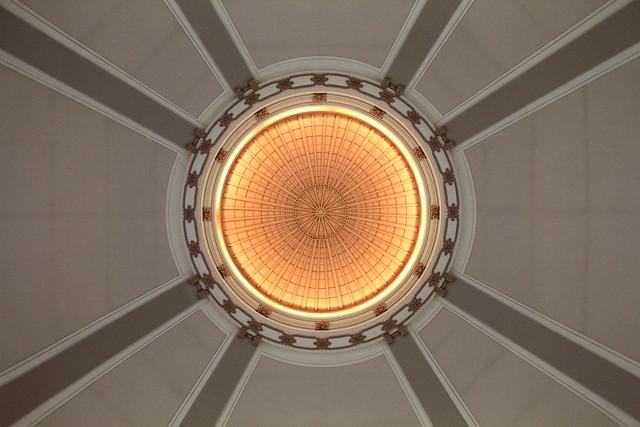 Under the rotunda