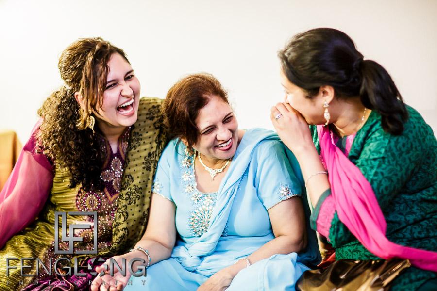 Aunties on Mehndi night