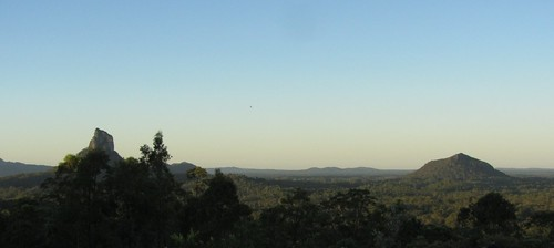 glass house mountains at dusk 2