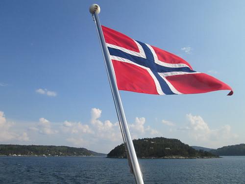 Oslo-Drobak en ferry. Noruega