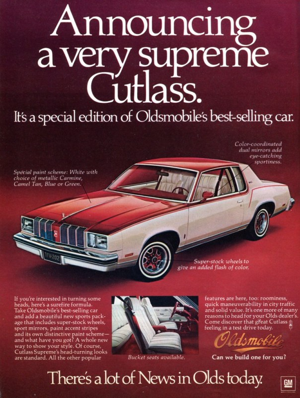 1978 Oldsmobile Cutlass Supreme - published in Car and Driver - May 1978