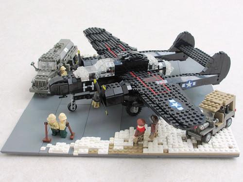 P-61 'Black Widow' diorama, v.2 (2)