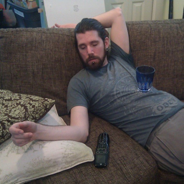 Just casually passed out on the couch @blame_simian