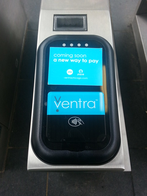Ventra turnstyle touchpad