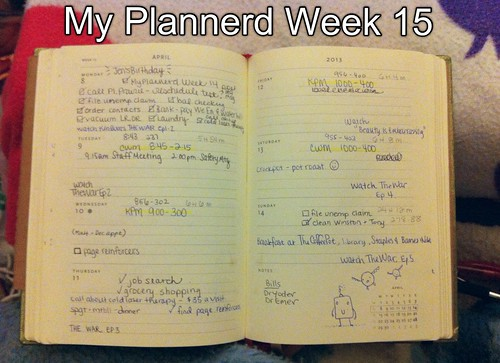 My Plannerd Week Fifteen