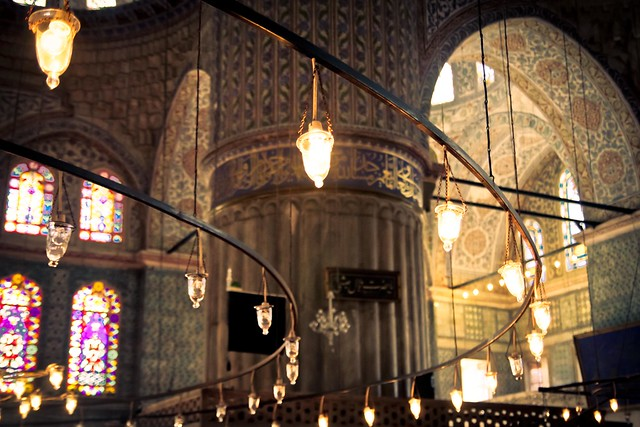 light and dark in the mosque